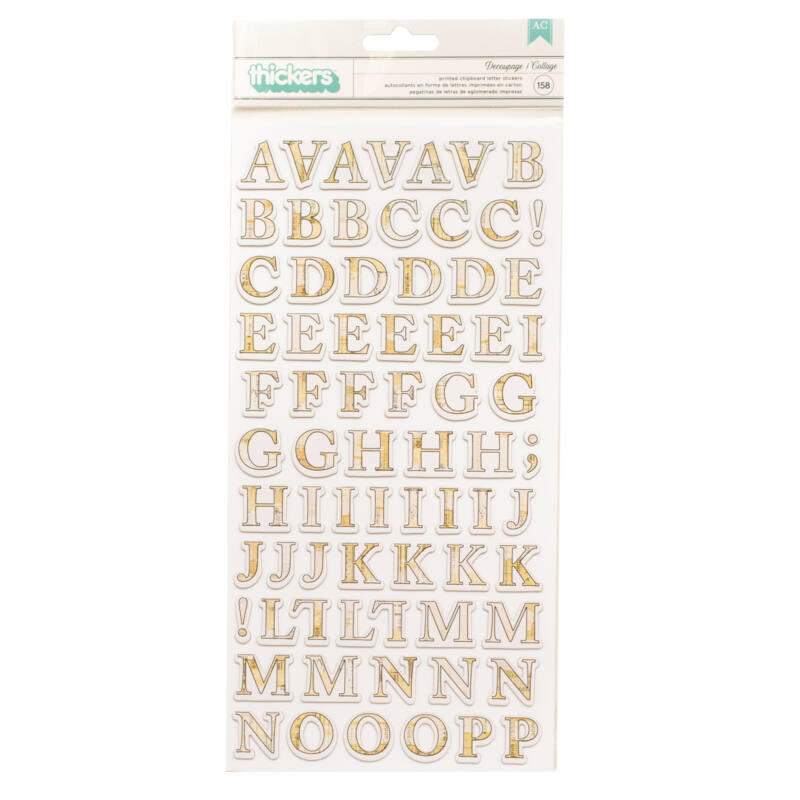 American Crafts - Vicki Boutin - Storyteller Chipboard Alpha Thickers (158 Piece)
