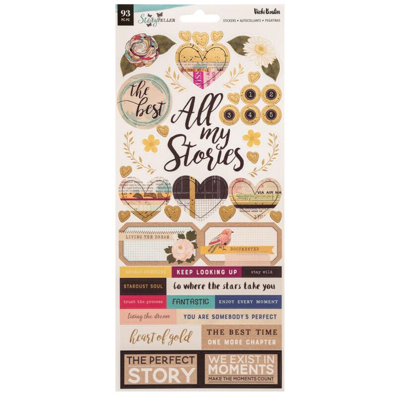 American Crafts - Vicki Boutin - Storyteller 6x12 Sticker (93 Piece)