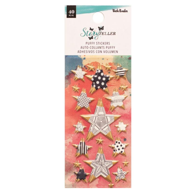 American Crafts - Vicki Boutin - Storyteller Puffy Mini Stars (40 Piece)