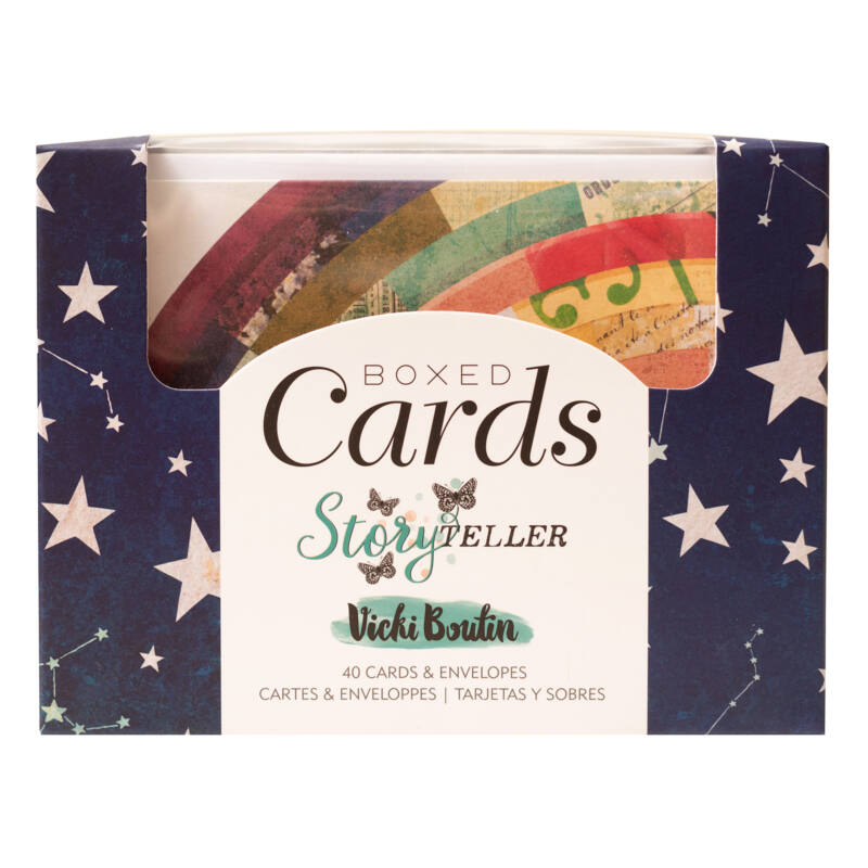 American Crafts - Vicki Boutin - Storyteller Boxed Cards (40 Cards and 40 Envelopes)