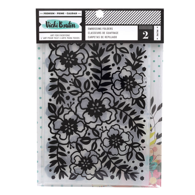 American Crafts - Vicki Boutin - Let's Wander - 8.5x6 Embossing Folder Set (2 Piece)