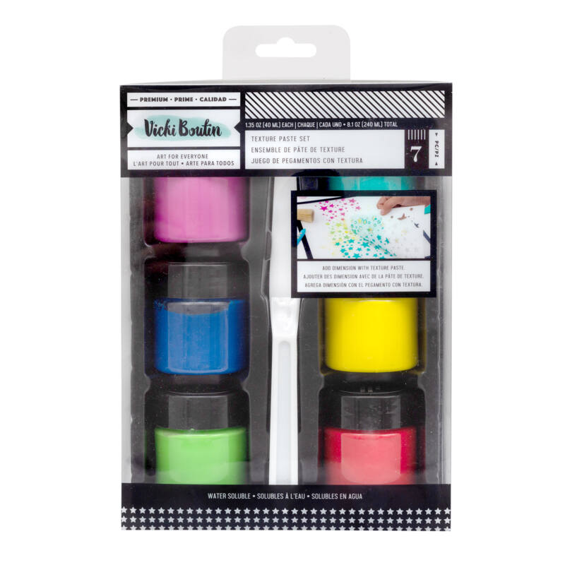 American Crafts - Vicki Boutin - Let's Wander - Texture Paste Set (7 Piece)