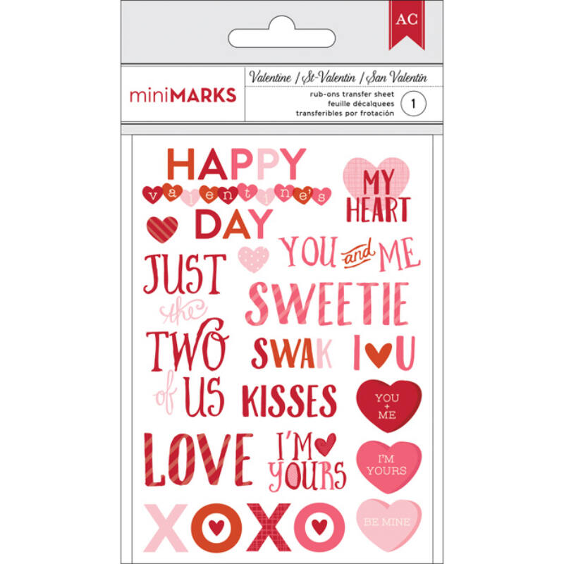 American Crafts Valentine Rub-Ons