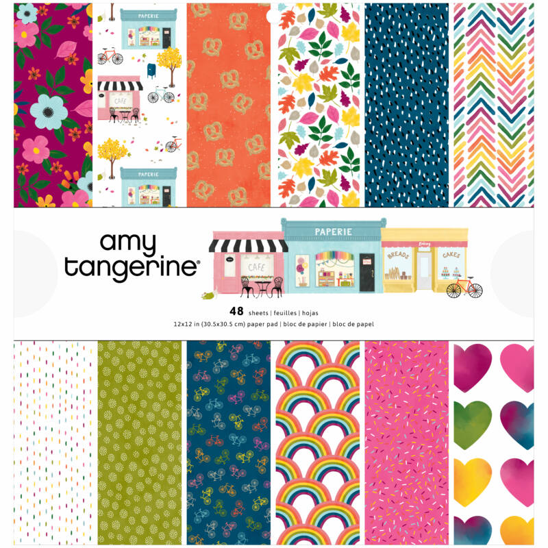 American Crafts - Amy Tangerine - Slice of Life 12x12 Paper Pad (48 Sheets)