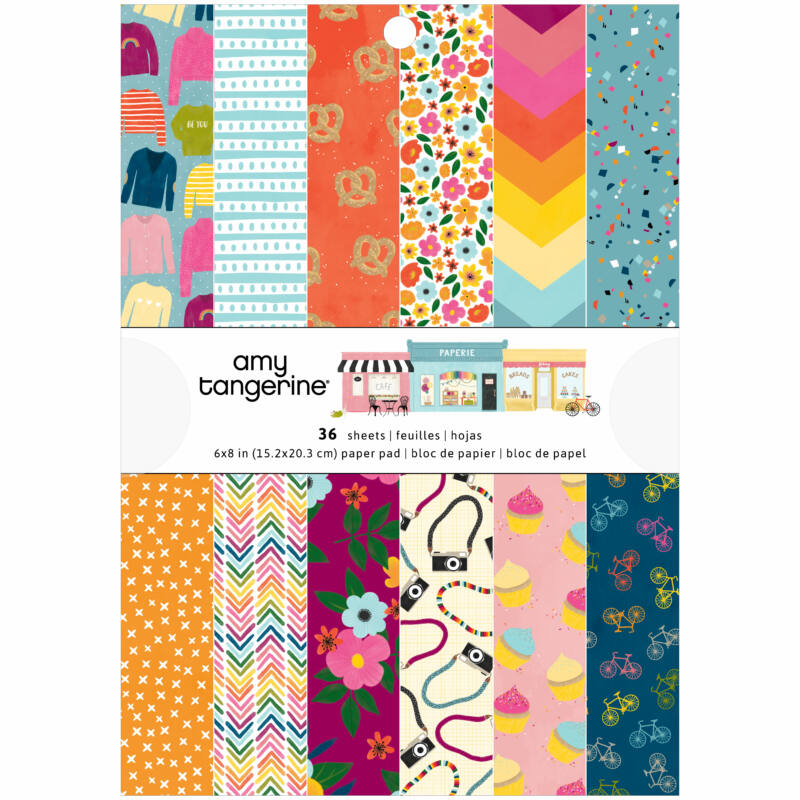 American Crafts - Amy Tangerine - Slice of Life 6x8 Paper Pad (36 Sheets)