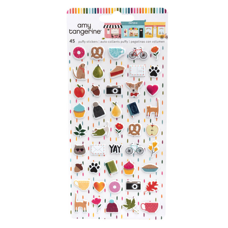 American Crafts - Amy Tangerine - Slice of Life Mini Puffy Stickers (45 Piece)
