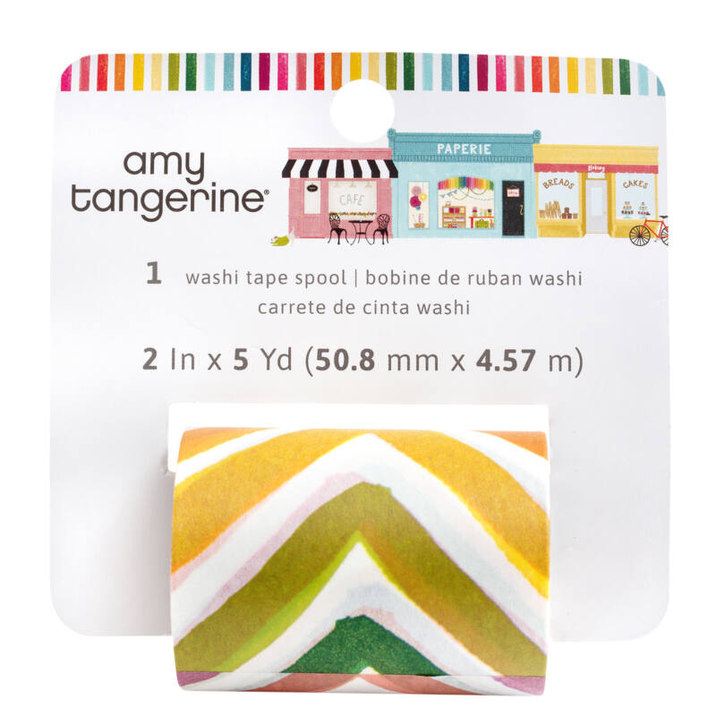 American Crafts - Amy Tangerine - Slice of Life Wide Washi Roll (4.57 m)