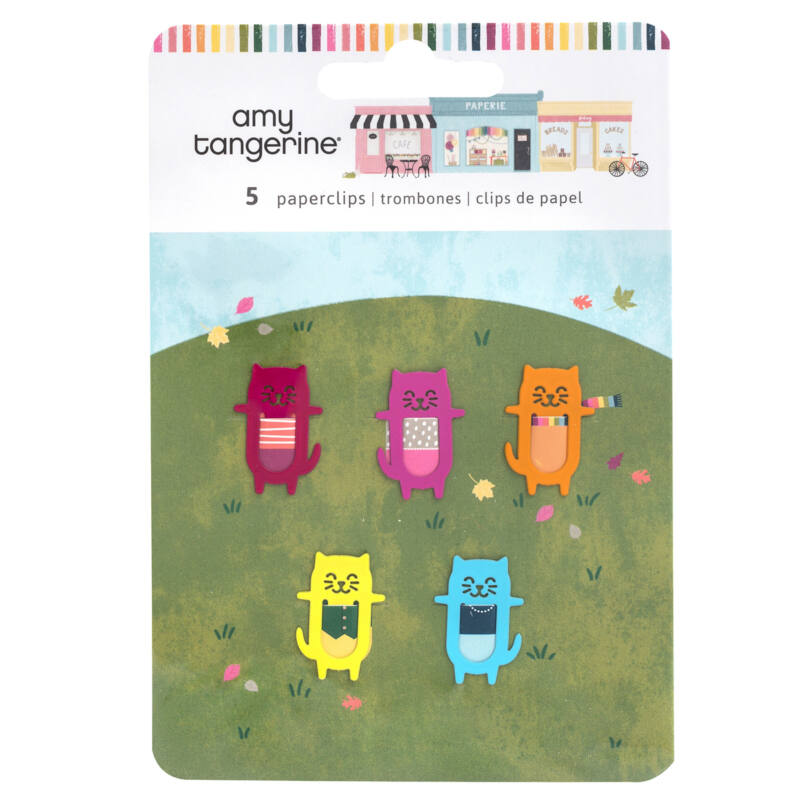 American Crafts - Amy Tangerine - Slice of Life Paperclips (5 Piece)