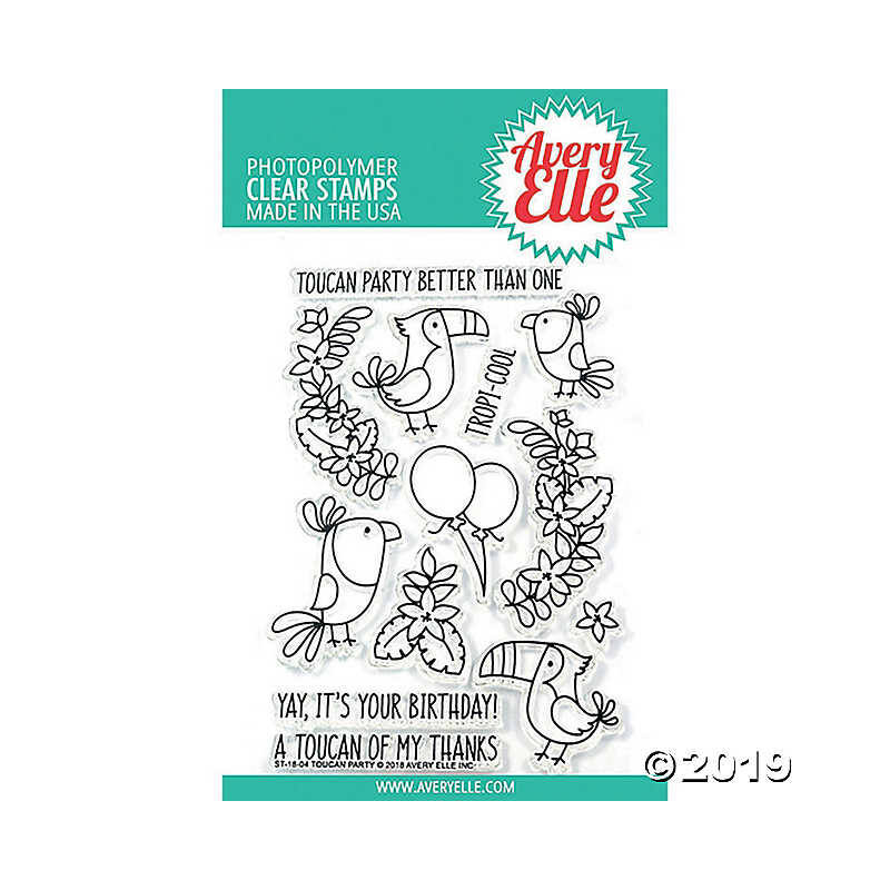 Avery Elle Clear Stamp - Toucan Party