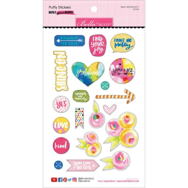 Bella BLVD - Make Your Mark Puffy Stickers