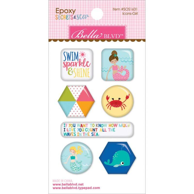 Bella Blvd - Secrets of the Sea Girl Epoxy Stickers