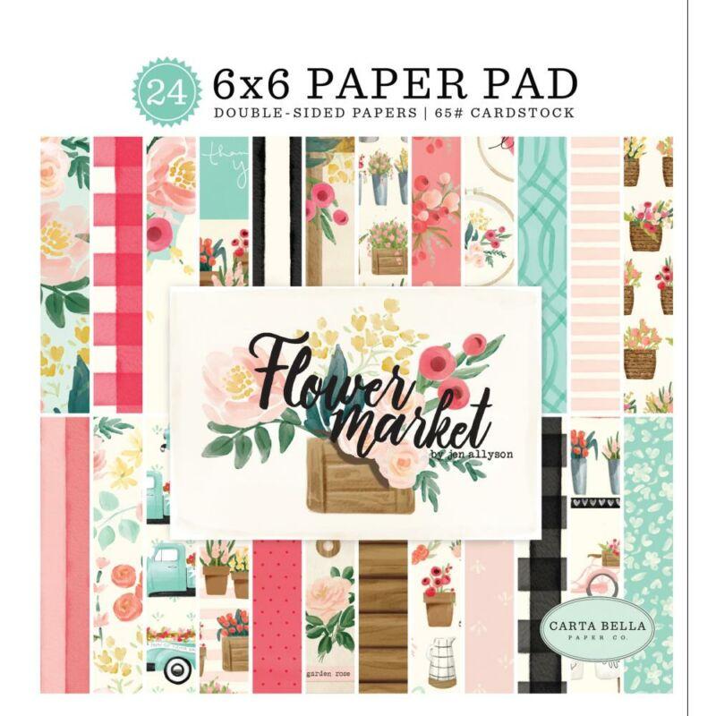 Carta Bella - Flower Market 6x6 Paper Pad (24 Sheets)