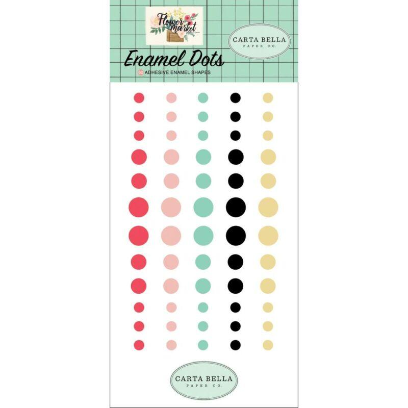 Carta Bella - Flower Market Enamel Dots (60 Pieces)