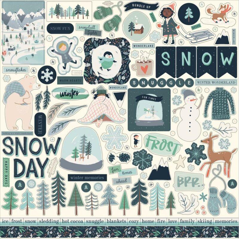 Carta Bella - Snow Much Fun 12x12 Cardstock Stickers