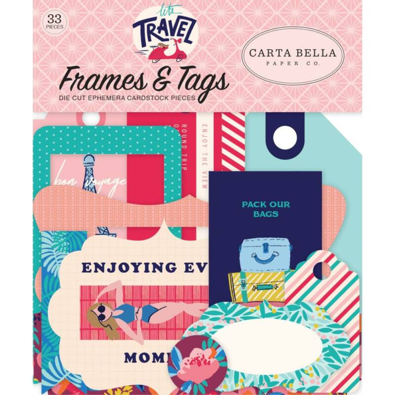 Carta Bella - Let's Travel Ephemera Die-Cuts (33 Piece)