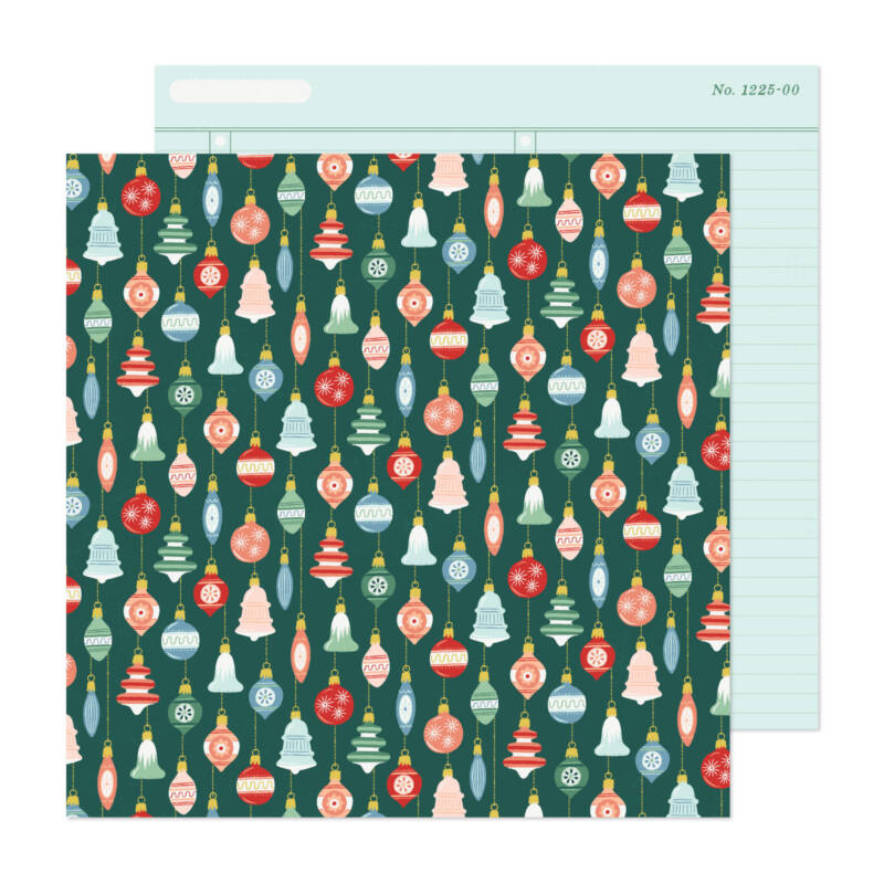 Crate Paper - Busy Sidewalks 12x12 Paper - Deck the Halls