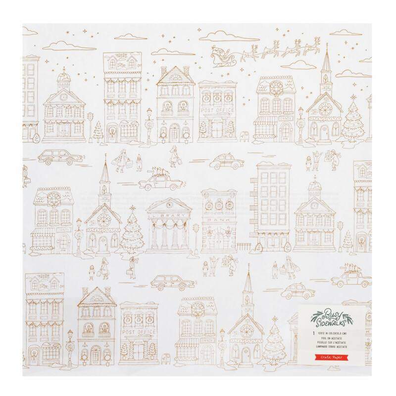 Crate Paper - Busy Sidewalks 12x12 Specialty Acetate Paper