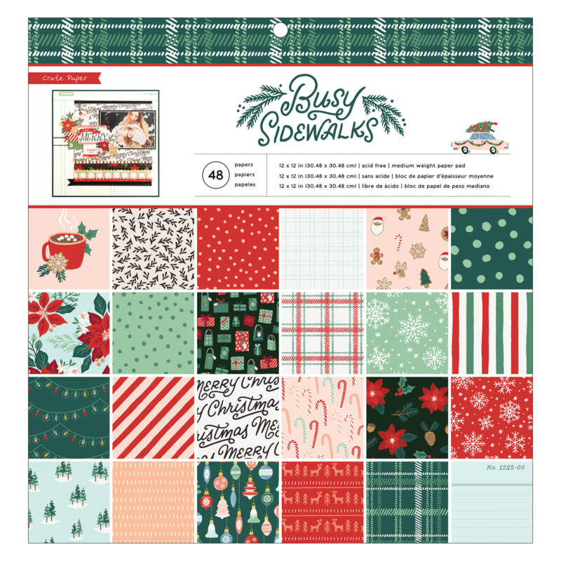 Crate Paper - Busy Sidewalks 12x12 Paper Pad (48 Sheets)