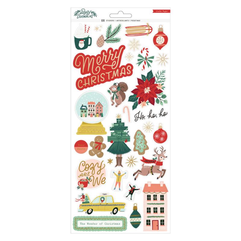 Crate Paper - Busy Sidewalks 6x12 Sticker (68 Piece)