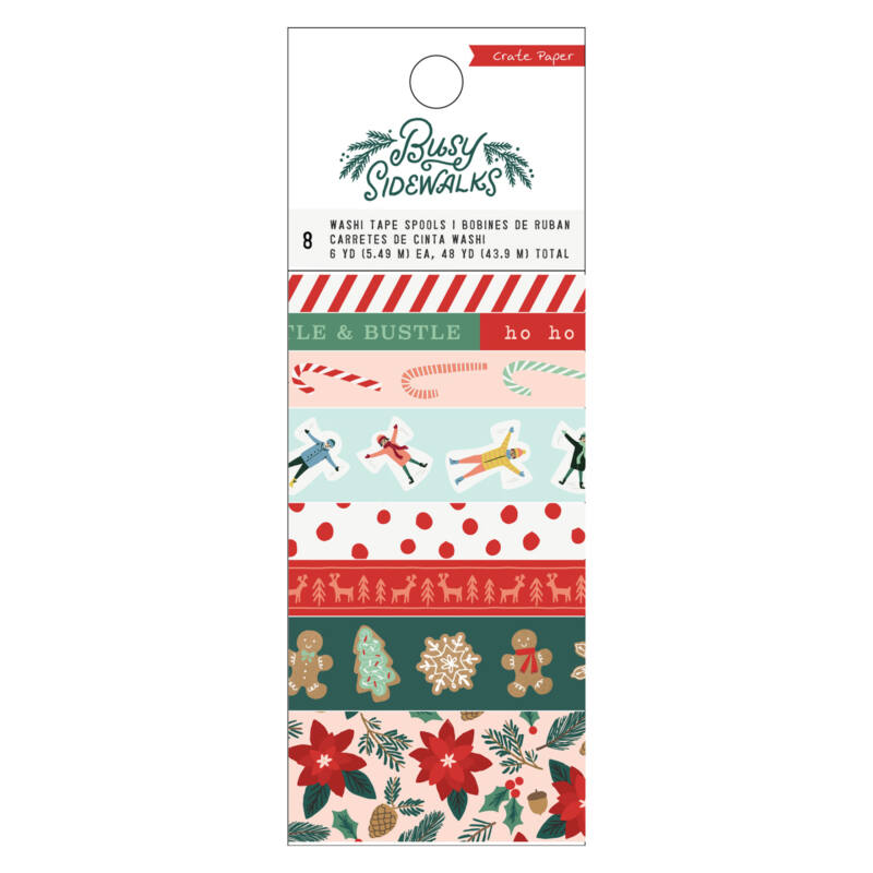 Crate Paper - Busy Sidewalks Washi Tape (8 Piece)