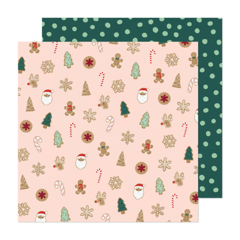 Crate Paper - Busy Sidewalks 12x12 Paper - Christmas Cookies