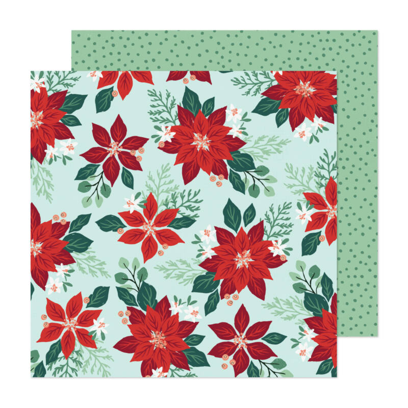 Crate Paper - Busy Sidewalks 12x12 Paper - Pretty Poinsettia