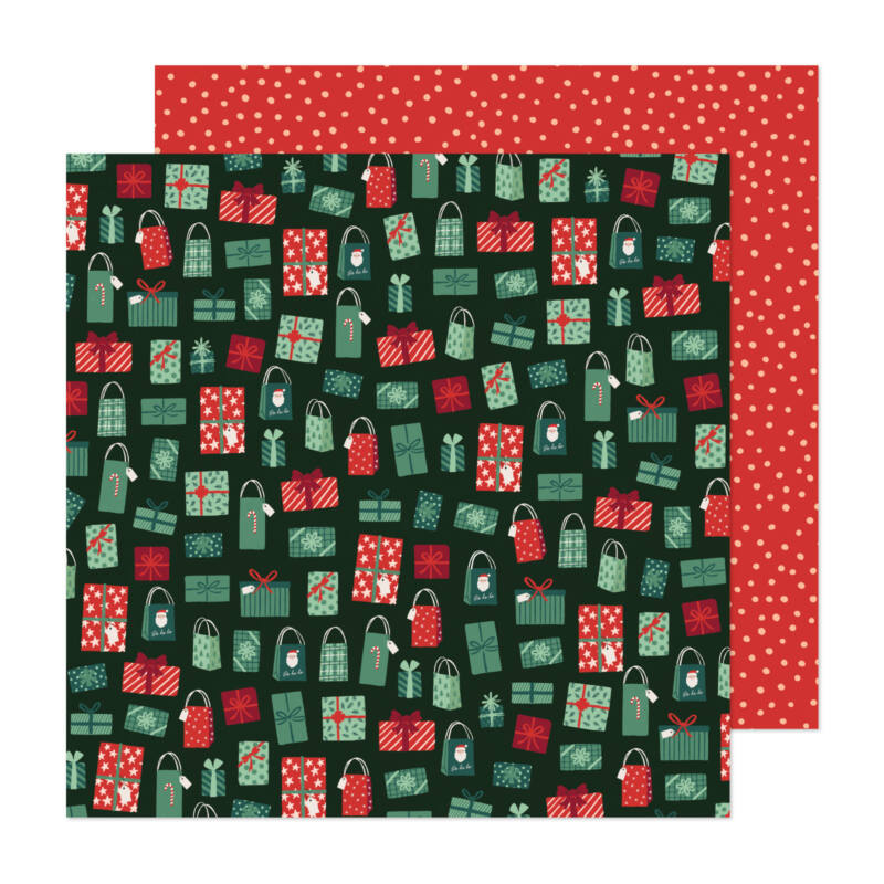Crate Paper - Busy Sidewalks 12x12 Paper - Holiday Style