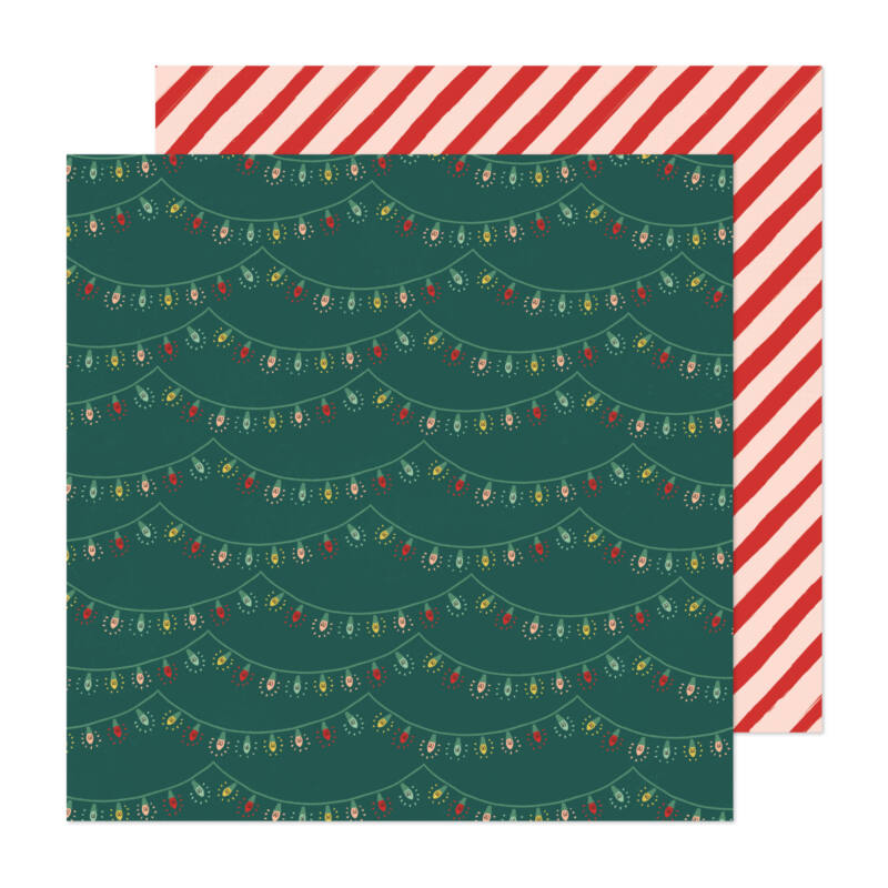 Crate Paper - Busy Sidewalks 12x12 Paper - Holiday Glow