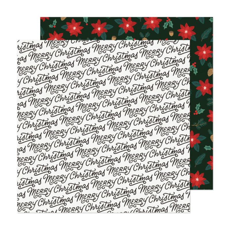 Crate Paper - Busy Sidewalks 12x12 Paper - Christmas Greetings