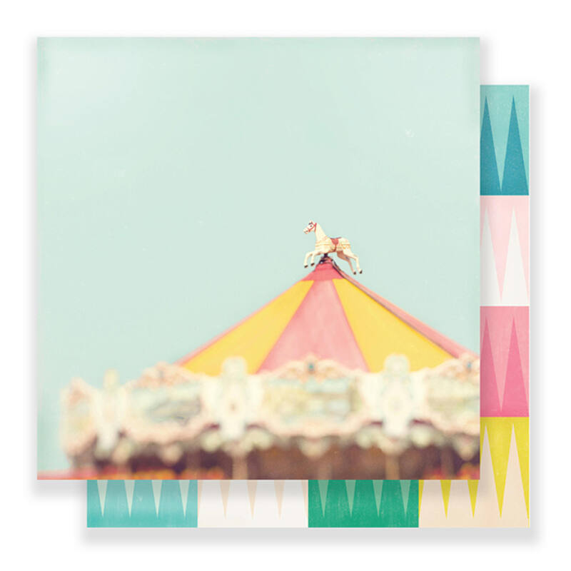 Crate Paper - Maggie Holmes Carousel 12x12 scrapbook papír - Magic