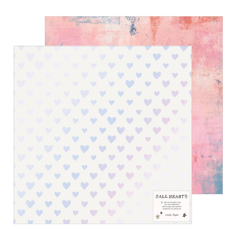 Crate Paper - All Heart 12x12 Specialty Paper - Your Heart