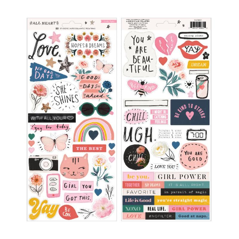Crate Paper - All Heart 6x12 Sticker (80 Piece)