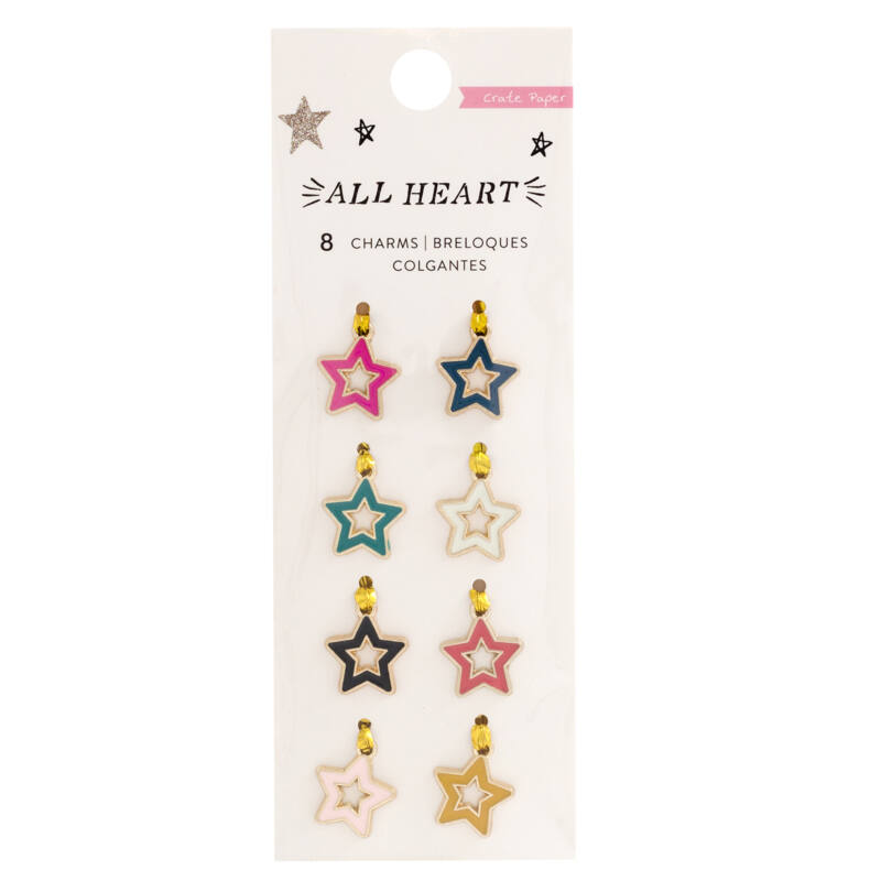Crate Paper - All Heart Charm (8 Piece)