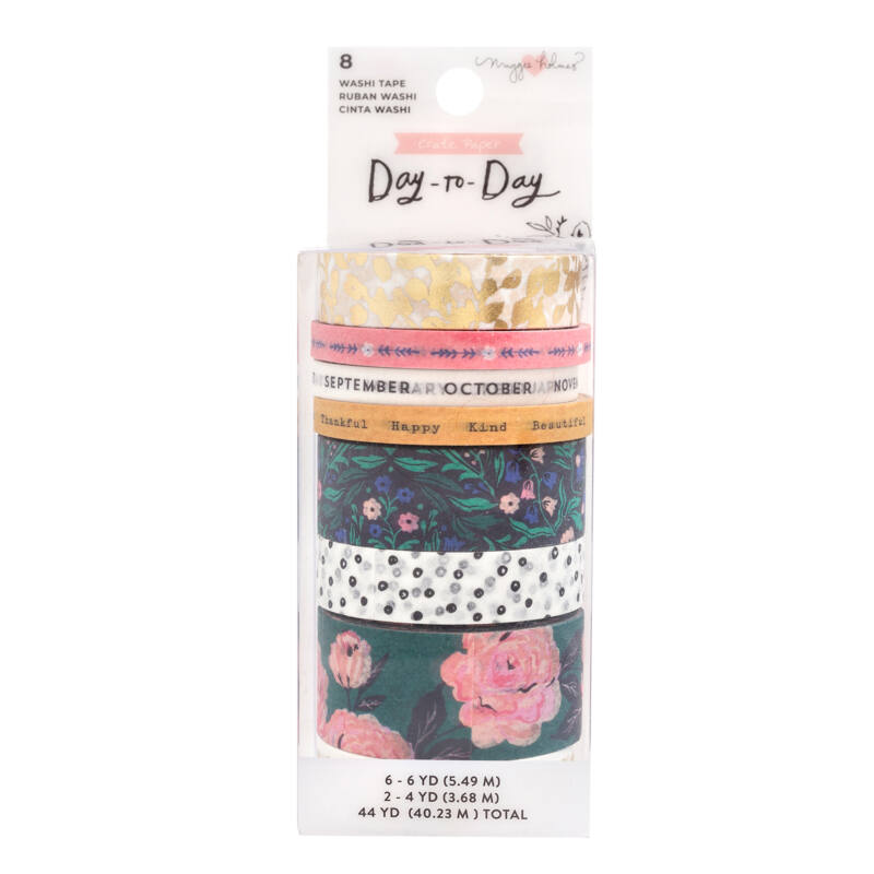 Crate Paper - Maggie Holmes Disc Planner - Washi Tape - Calendar (8 Piece)