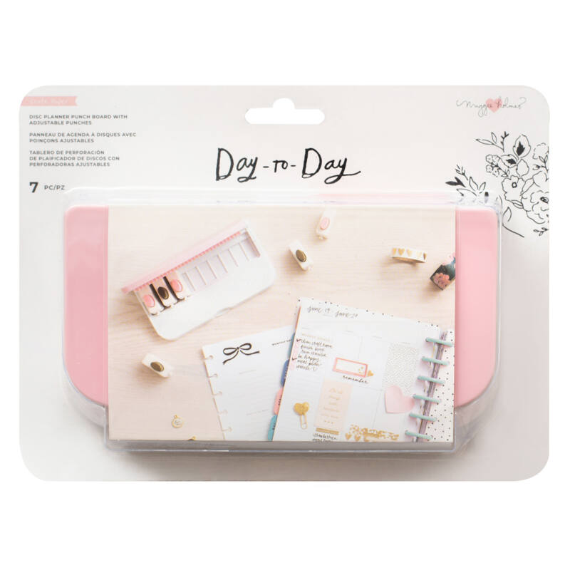 Crate Paper - Maggie Holmes Disc Planner - Adjustable Planner Punch Board (7 Piece)