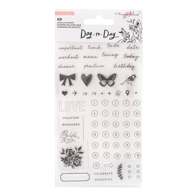 Crate Paper - Maggie Holmes Disc Planner - Clear Stamp (69 Piece)