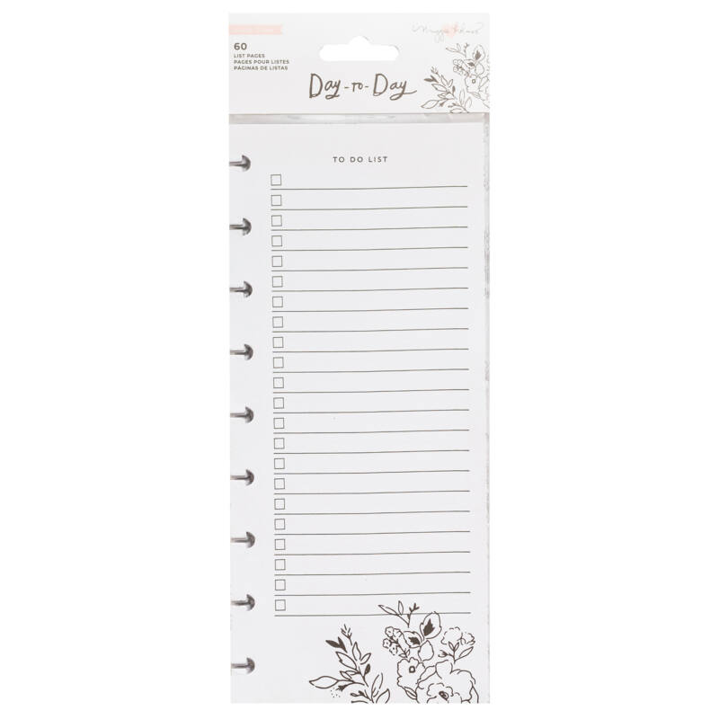 Crate Paper - Maggie Holmes Disc Planner - Double-Sided Note Pad - Shopping and To Do List (60 Sheets)