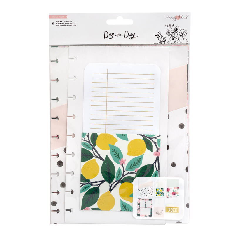 Crate Paper - Maggie Holmes Disc Planner - Pocket Folders (6 Piece)