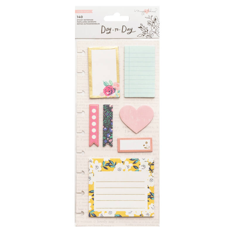 Crate Paper - Maggie Holmes Disc Planner - Sticky Notes - Heart (140 Piece)