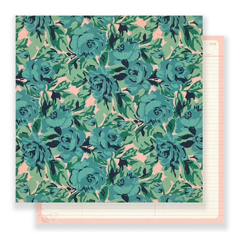 Crate Paper - Maggie Holmes Flourish 12x12 Paper - Rose