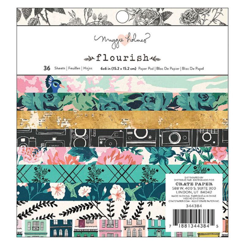 Crate Paper - Maggie Holmes Flourish 6x6 Paper Pad