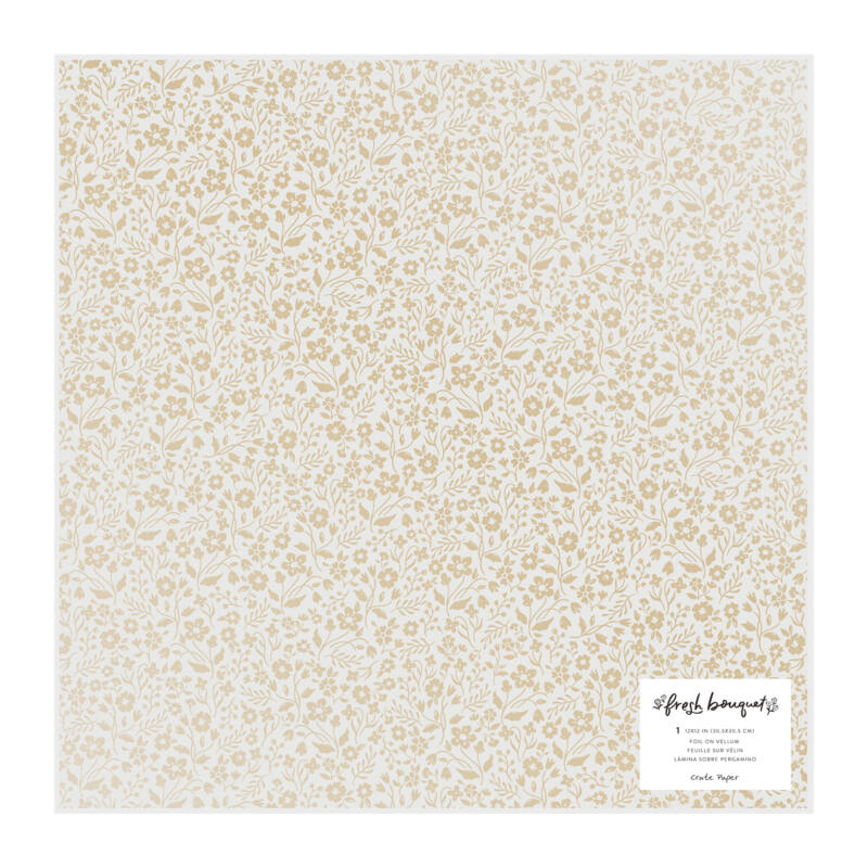 Crate Paper - Fresh Bouquet 12x12 Specialty Vellum Paper - Sweetheart