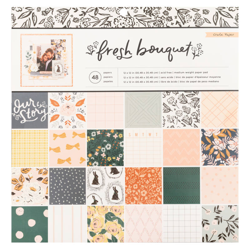 Crate Paper - Fresh Bouquet 12x12 Paper Pad (48 Sheets)