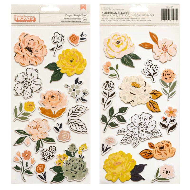 Crate Paper - Fresh Bouquet Foam Accent Thickers - Bouquet (29 Piece)