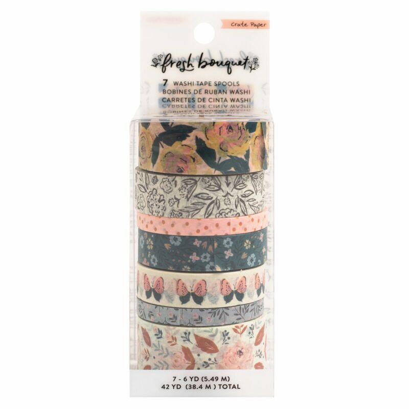 Crate Paper - Fresh Bouquet washi szett (7 db)