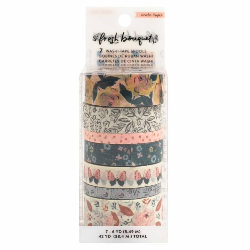 Crate Paper - Fresh Bouquet Washi Tape (7 Piece)