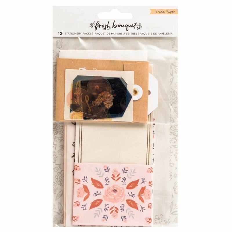 Crate Paper - Fresh Bouquet Stationery Pack (12 Piece)