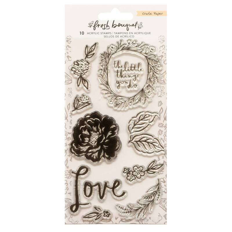 Crate Paper - Fresh Bouquet Acrylic Stamp Set