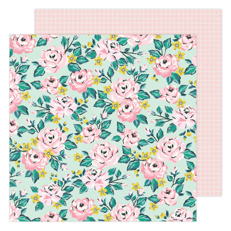 American Crafts - Maggie Holmes - Garden Party 12x12 Paper - Blooming
