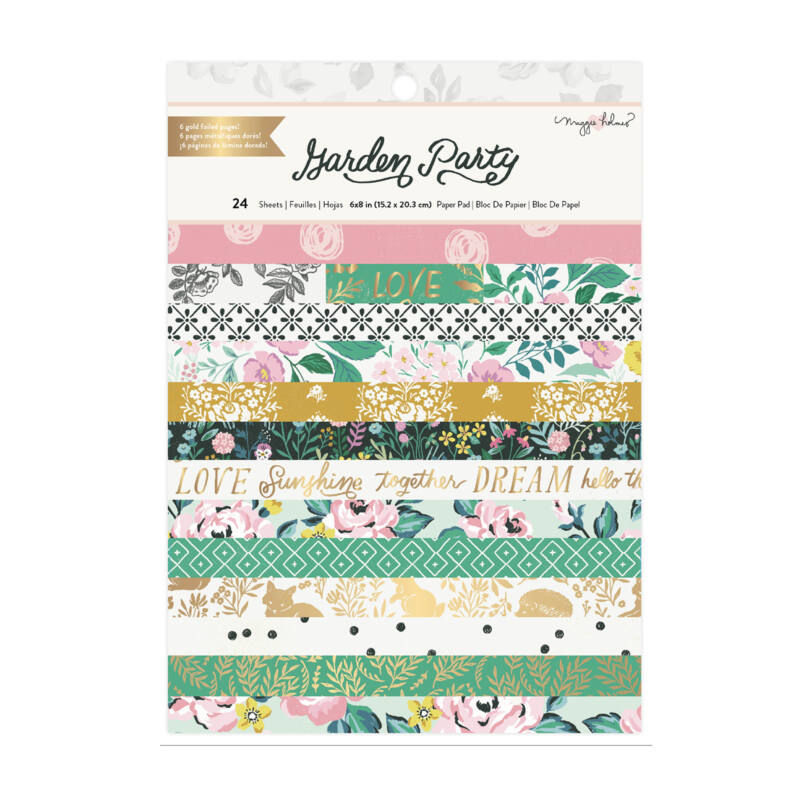 American Crafts - Maggie Holmes - Garden Party 6x8 Paper Pad (24 Sheets)